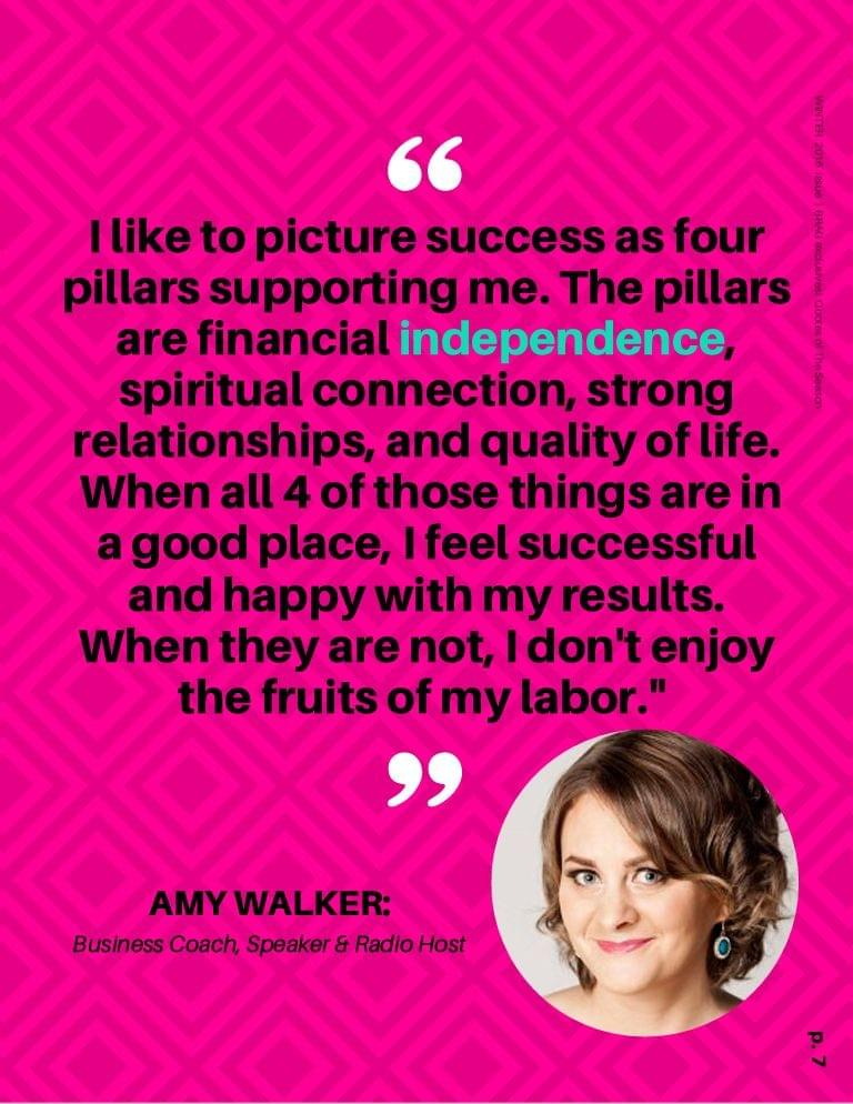 Amy Walker featured in BRAG! Magazine Winter 2016