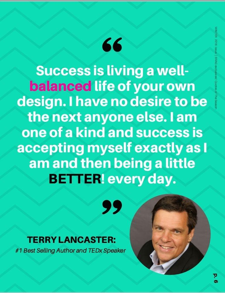 Terry Lancaster featured in BRAG! Magazine Winter 2016