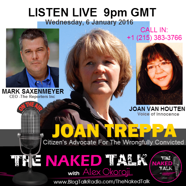 Joan Treppa, Mark Saxenmeyer & Joan Van Houten are Guests on THE NAKED TALK w/ Alex Okoroji
