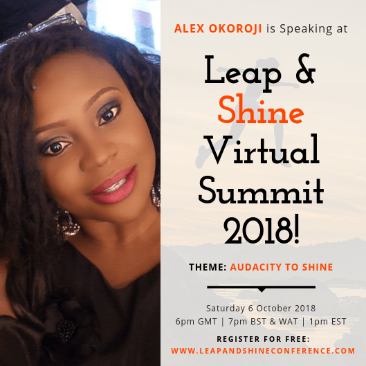 Alex Okoroji is Speaker at the 2018 Leap and Shine Conference