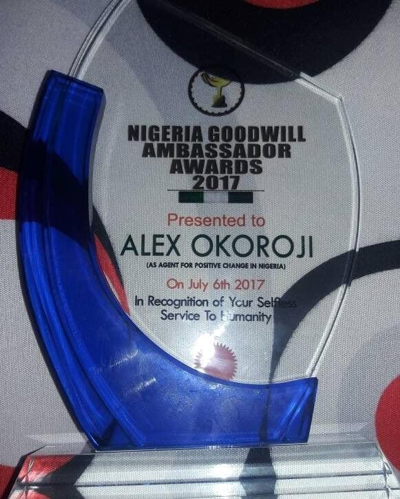 Nigerian Goodwill Ambassador Award for Alex Okoroji