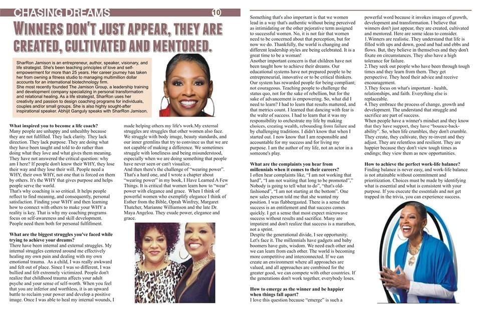 SharRon Jamison is Featured in October Issue of Upwords Magazine