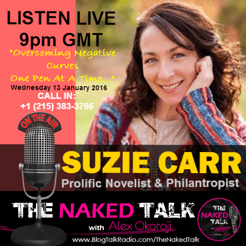 Suzie Carr is Guest on THE NAKED TALK w/ Alex Okoroji