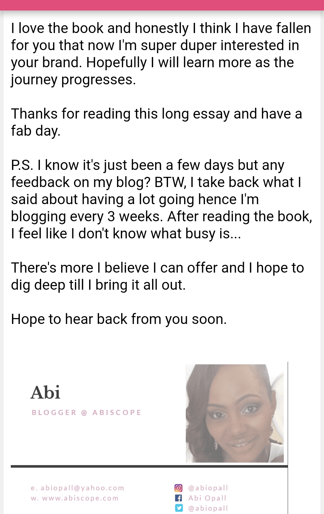 Review Screenshot 4 of Uncovered Book by Alex Okoroji