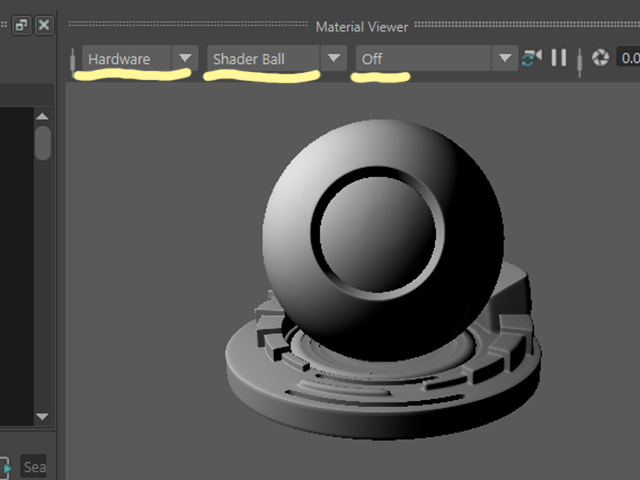 Maya2018 Hypershade Material Viewer