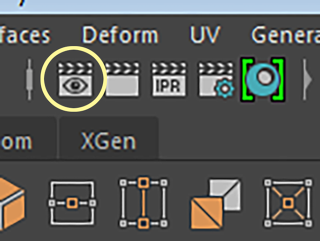 MAYA Windows→Rendering Editors→Render View