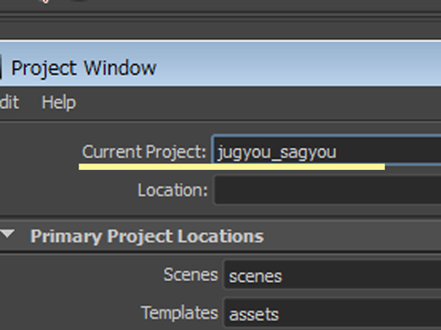 MAYA Current Project jugyou_sagyou