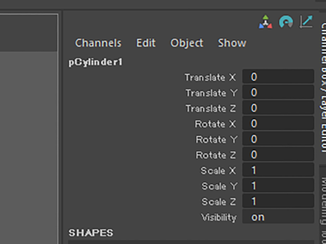 MAYA Channel Box
