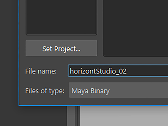 Maya2018 File→Save Scenes As