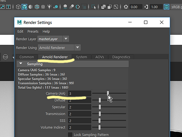 Maya2018 Render Settings