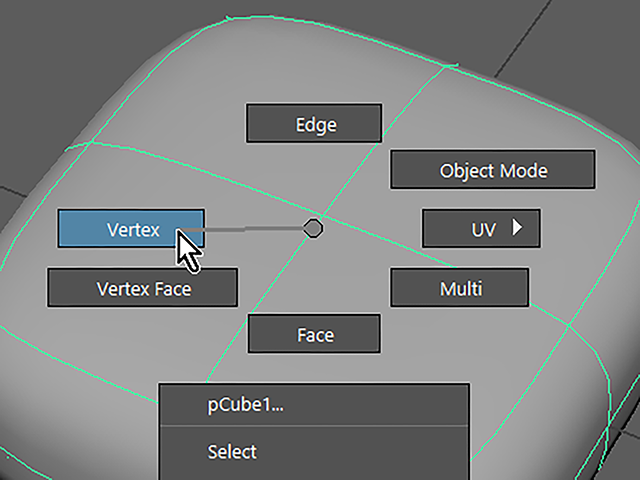 Maya2018 Select Vertex