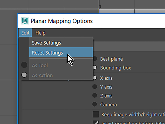 Maya2018 Reset Settings