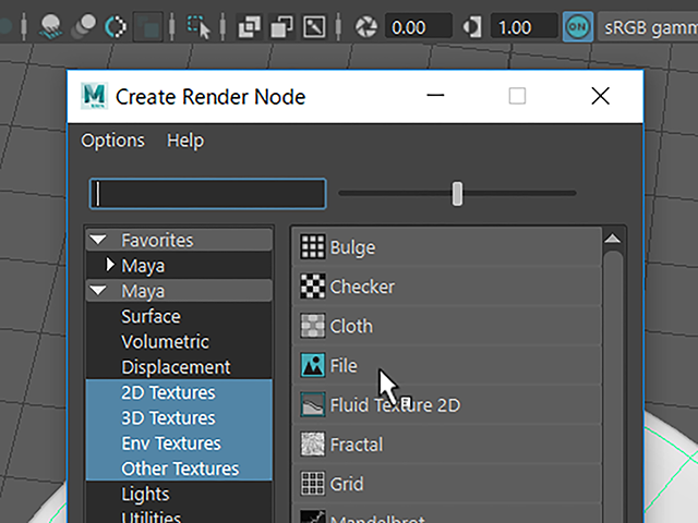 Maya2018 Create Render Node