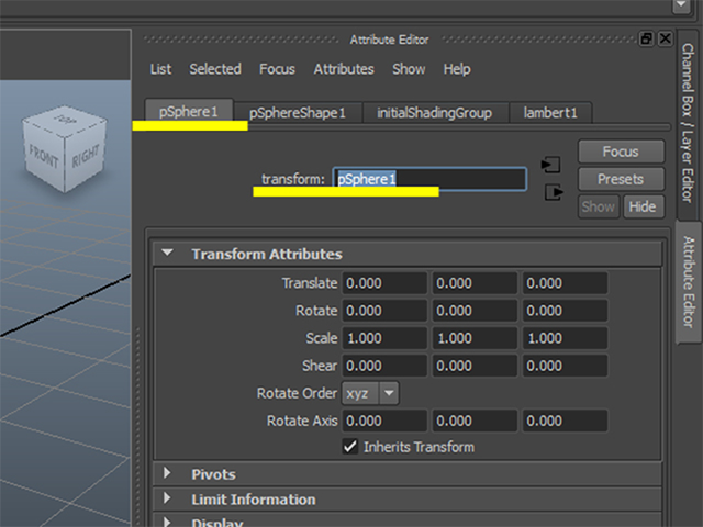 MAYA Attribute Editor Rename