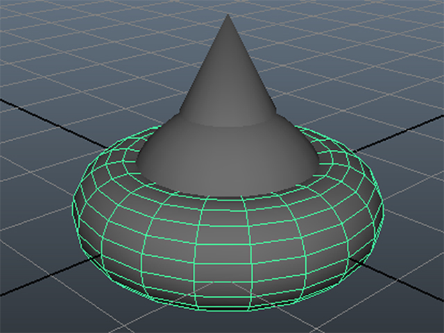 MAYA Create→Polygon Primitives→Torus