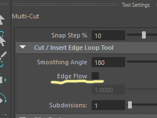 MAYA Multi-Cut Edge Flow