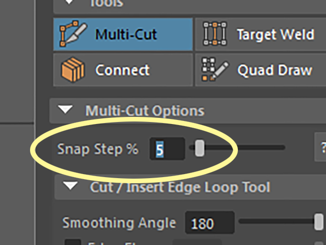 Multi-Cut Snap Step