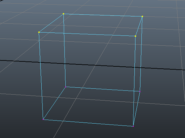MAYA Select Cube Vertices