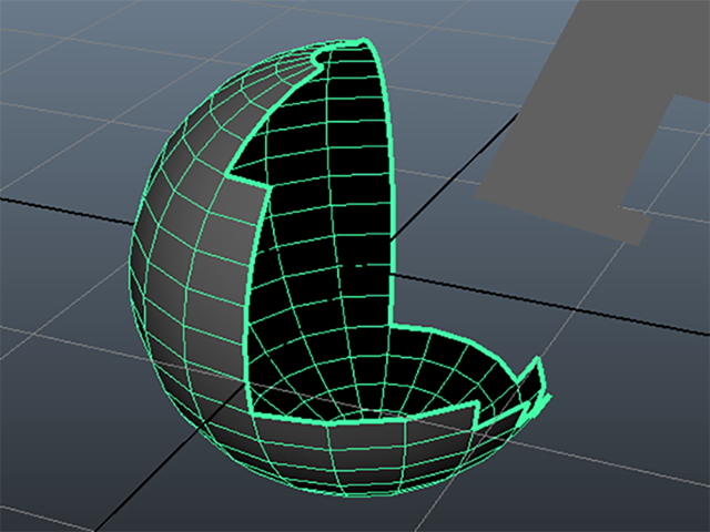 MAYA sphere border edges