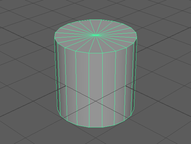 MAYA Create→Polygon Primitives→Cylinder