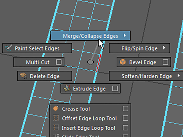 MAYA Merge Collapse Edges