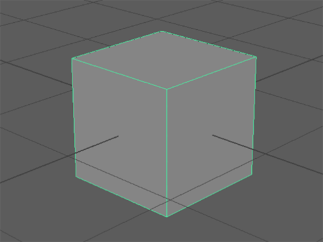 MAYA Create→Polygon Primitives→Cube