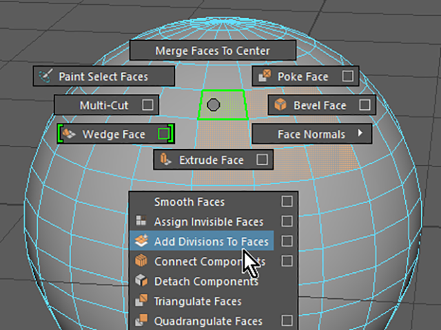 MAYA Add Divisions To Faces