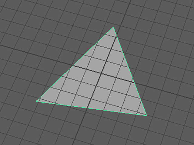 MAYA Triangle Polygon