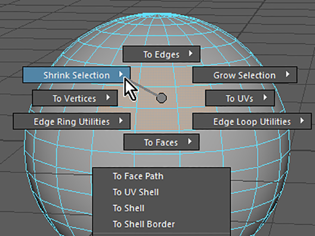 MAYA Shrink Selection