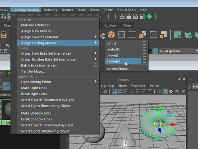 MAYA  Assign Existing Material