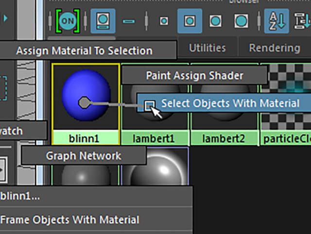 Hypershade Select Objects With Material