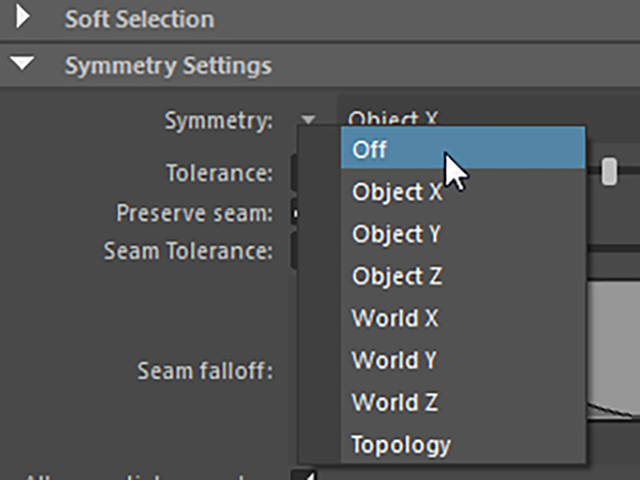 MAYA Symmetry Settings