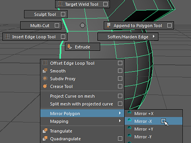 MAYA Mirror Polygon
