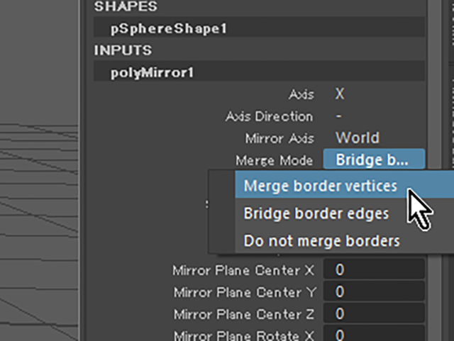 Merge border vertices