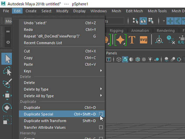 MAYA Duplicate Special Options