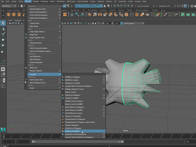 MAYA Instance to Polygon