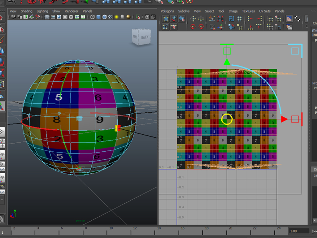MAYA Spherical Mapping