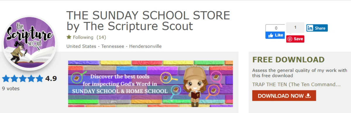 The Scripture Scout's Sunday School Store
