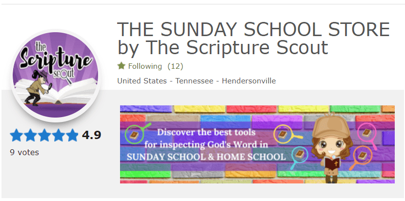 The Sunday School Store by The Scripture Scout