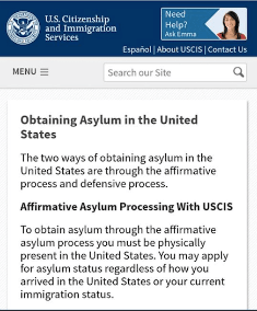 Obtaining Asylum and Affirmative Processing