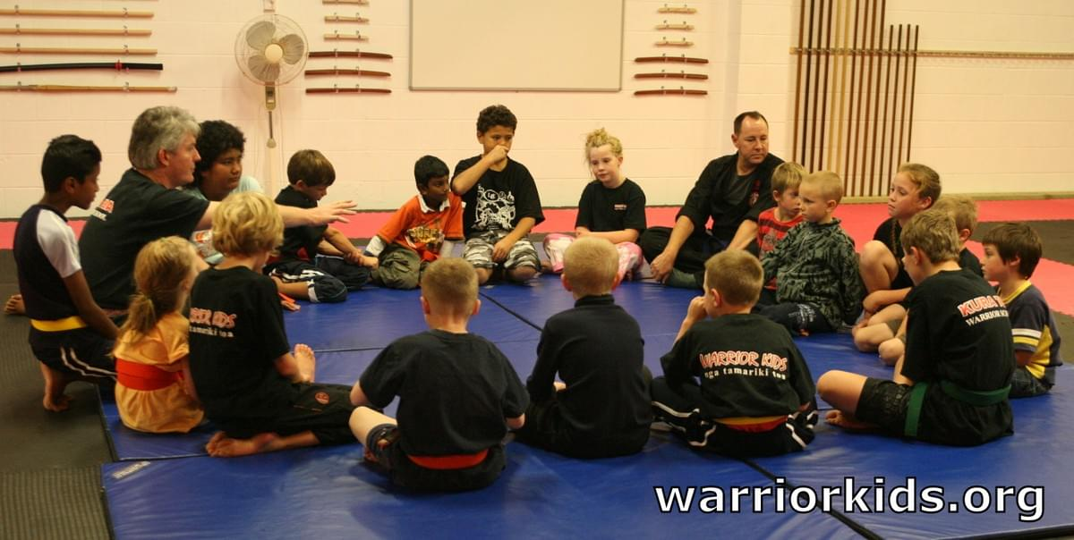 Tim Tipene teaching Warrior Kids