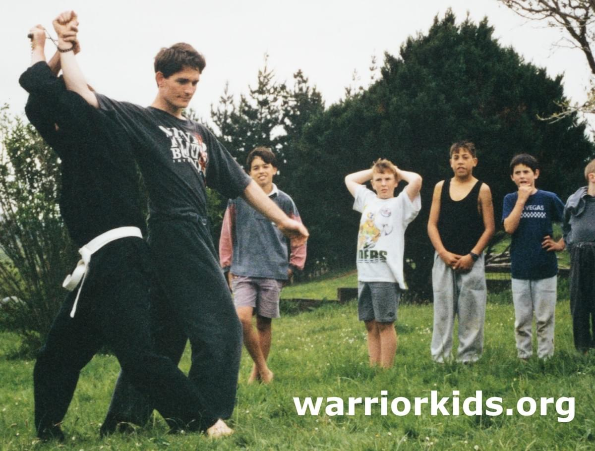 Tim Tipene teaching Warrior Kids, 1994/1995