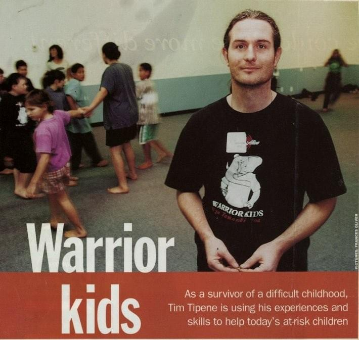 Warrior Kids Article for the NZ Women's Weekly with Tim Tipene
