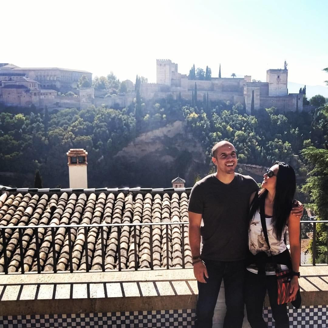 Granada, Spain with the Alhambra in the background (2015)