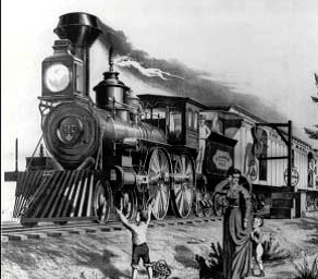 "The ""Fast Mail Train"" was one innovation to speed mail delivery"