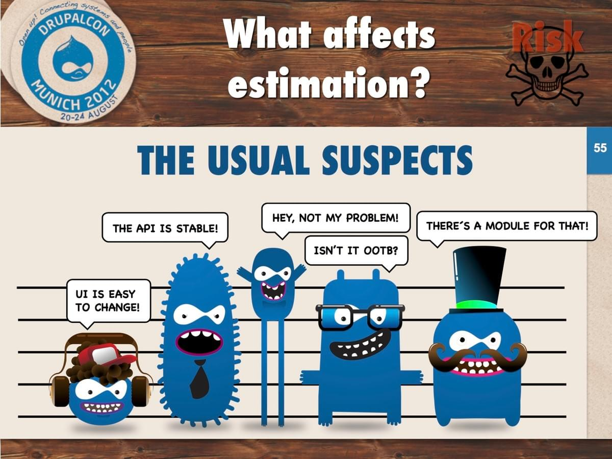 What affects estimation? The Usual Suspects