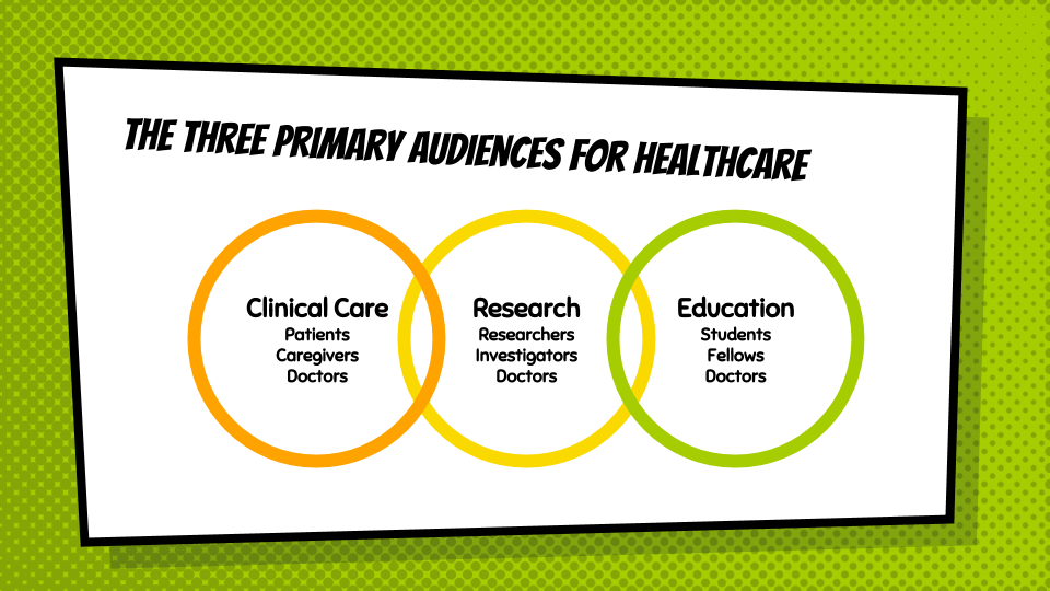 The three primary audiences for healthcare