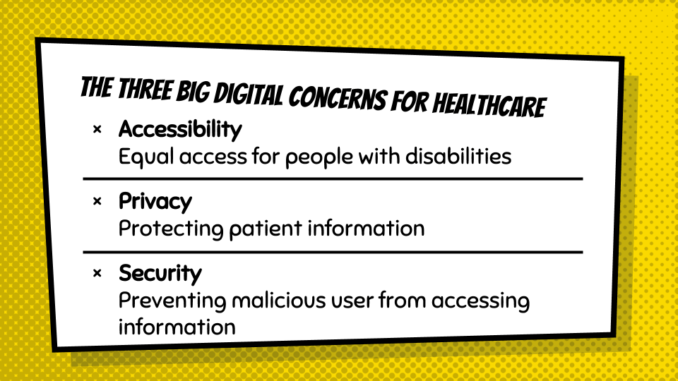 The three big digital concerns for healthcare