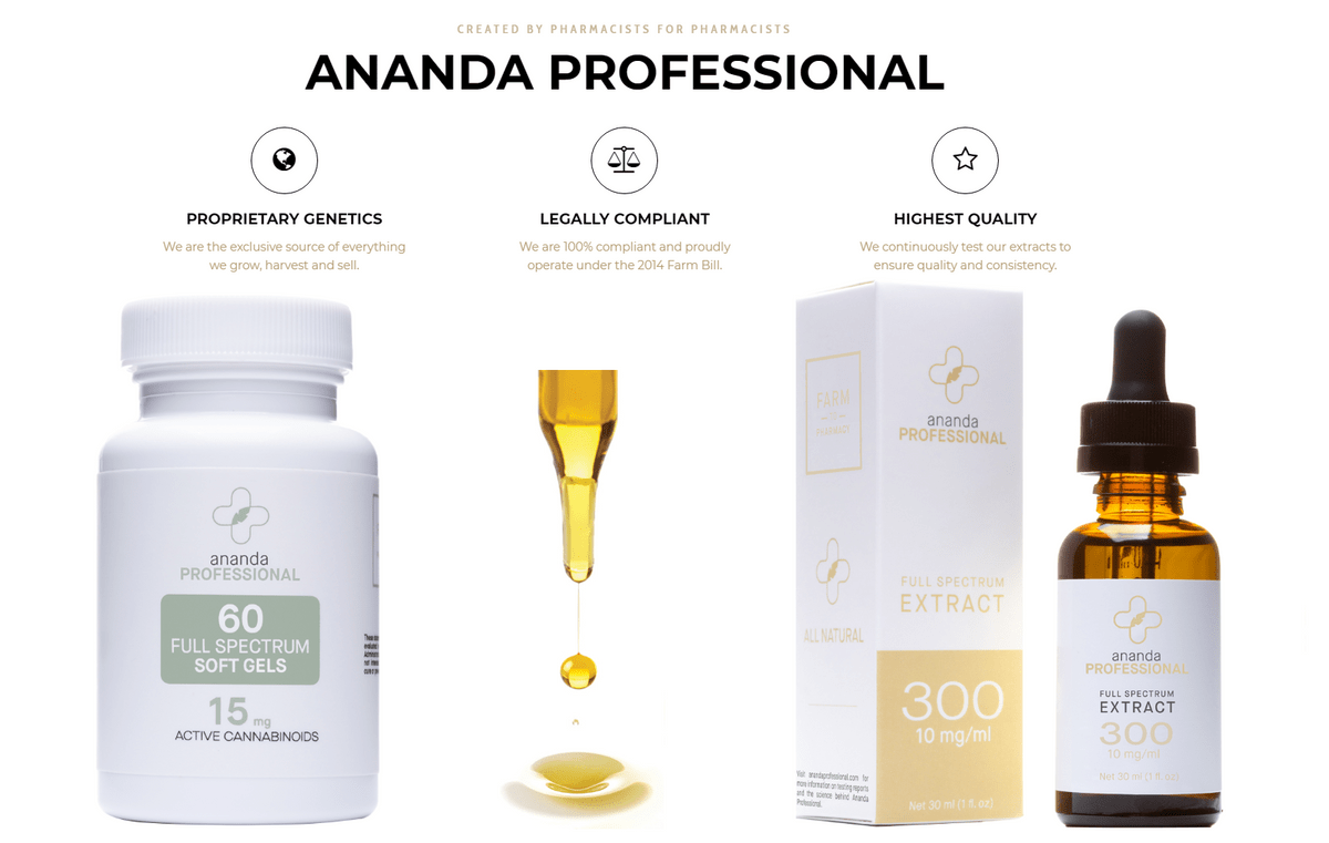 CBD Products from Ananda Professional