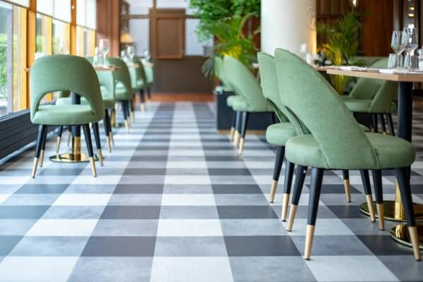 Complete replacement of carpet plus floor smoothing in restaurant and dining area at Tullamore Court Hotel. Flooring by LRK Flooring.